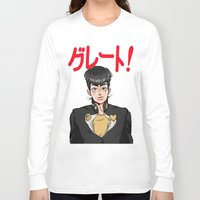 jjba Long Sleeve T-shirts featuring GREAT! by dggeoffing