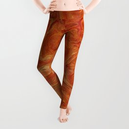 Burnt Orange Fire Lava Flow Leggings