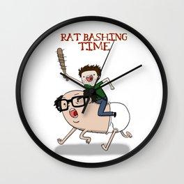 Rat Bashing Time Wall Clock