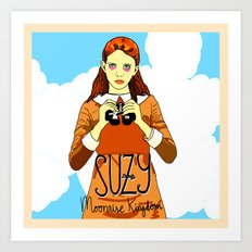 Moonrise Kingdom, Suzy Art Print