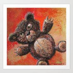 Scary Bear Art Print