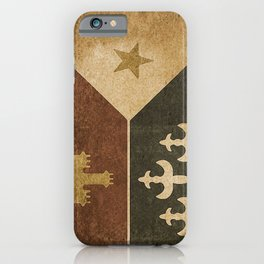 Acadian Flag iPhone Case