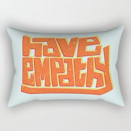 Blocky Have Empathy Rectangular Pillow