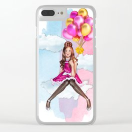 The Balloon Girl Clear iPhone Case