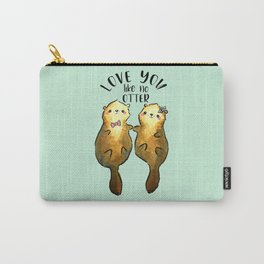 Otter Couple, Love You Like No Otter Carry-All Pouch