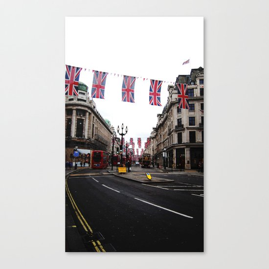 Bunting and Flags Canvas Print