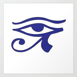 Eye of Horus Blue Wedjat Art Print