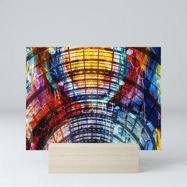 Collage Bogen color Mini Art Print