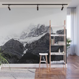 Moody snow capped Mountain Peaks - Nature Photography Wall Mural
