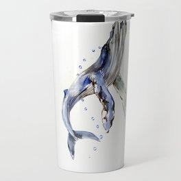 Humpback Whale, swimming whale artwork Travel Mug