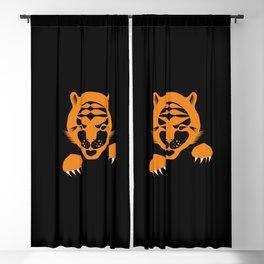 Orange Tiger Cub. Blackout Curtain