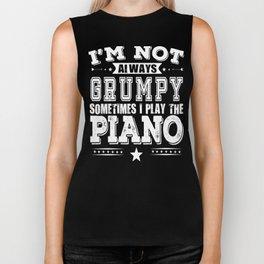 Grumpy Piano Player Cool Gift Biker Tank