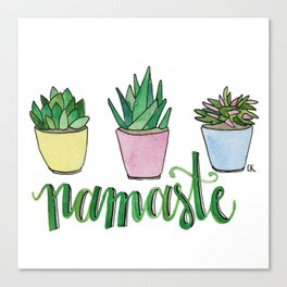 Namaste Succulents by Eileen Graphics Canvas Print
