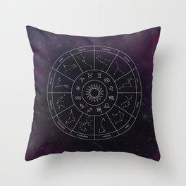 Zodiac Map Throw Pillow