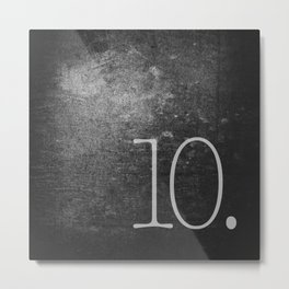 NUMBER 10 BLACK Metal Print