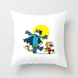 The WALK: Calvin and Hobbes Throw Pillow