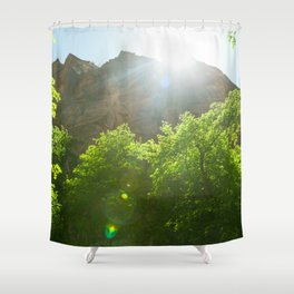 Fremont Cottonwood Trees II (Zion National Park, Utah) Shower Curtain
