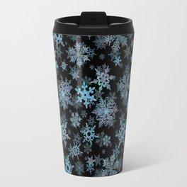 """Embroidered"" Snowflakes Travel Mug"