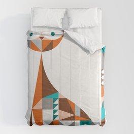 mid-century cat Comforters