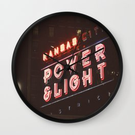 power and light Wall Clock
