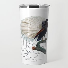 Nebulous, The Nebulous Spreading Her Ornaments Antique Bird Print by Jacques Barraband Travel Mug