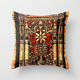 Bohemian Carvings Throw Pillow