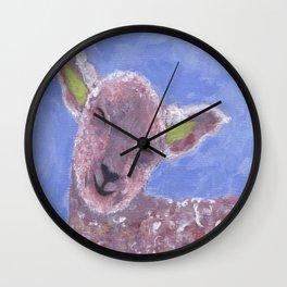Sleepy Sheepy Wall Clock