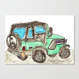 Jamie's Just Empty Every Pocket Vehicle Canvas Print
