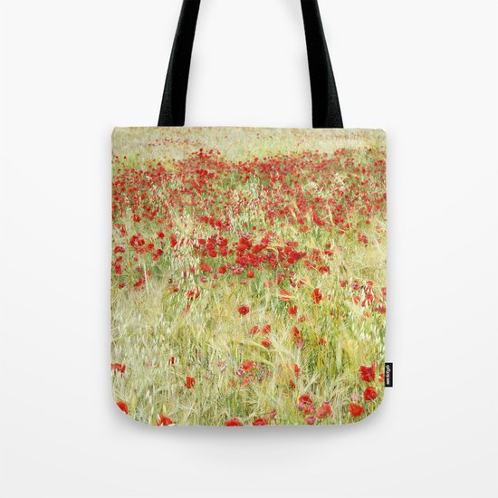 """""""Abstract poppies"""" Tote Bag"""
