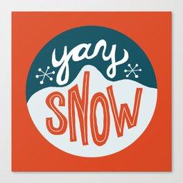yay snow Canvas Print