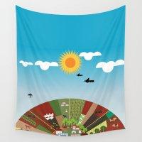 farm Wall Tapestries featuring Farm by Design4u Studio