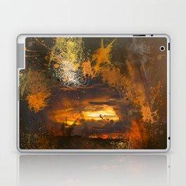 Exploding vibrant sunset Laptop & iPad Skin