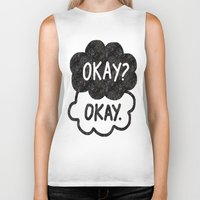 tfios Biker Tanks featuring OKAY?OKAY THE FAULT IN OUR STARS TFIOS HAZEL AUGUSTUS CLOUDS by monalisacried