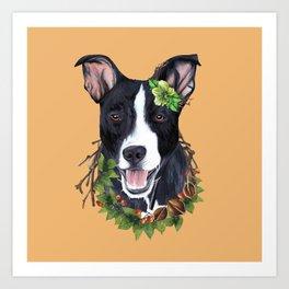 Flower dog Art Print
