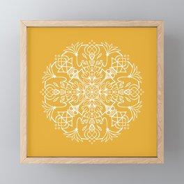 Lotus Mandala - Sunny Yellow Framed Mini Art Print