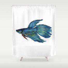 Mortimer the Betta Fish Shower Curtain