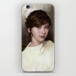 Portrait of Baifern Pimchanok Luevisadpaibul iPhone Skin