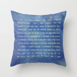 the 1° law colors Throw Pillow