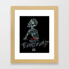 Techno Zombies Framed Art Print