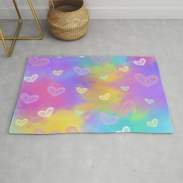 Colorful Heart Drawings Ver.3 Rug
