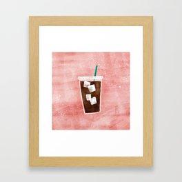 Iced Coffee Framed Art Print