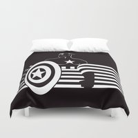 captain silva Duvet Covers featuring captain by MISTER BLACKWHITE