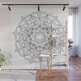Mandala black 2 Wall Mural