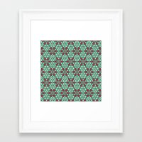 honeycomb Framed Art Prints featuring Honeycomb by Paula Belle Flores