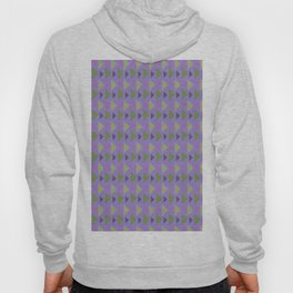 Geometrical purple green hand painted triangles pattern Hoody