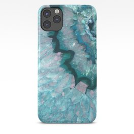 Teal Crystal iPhone Case