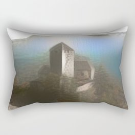 Castle Tirol in Fog Rectangular Pillow