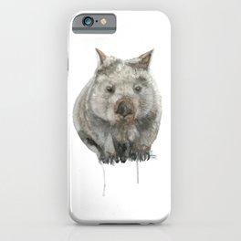 Wombat watercolour iPhone Case