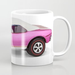 Hot Wheels Pink Party 427 SS Pony Car 67 Redline with white hardtop hood open Coffee Mug