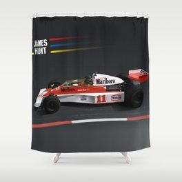 James Hunt McLaren F1    Car   Automotive   Formula One Shower Curtain